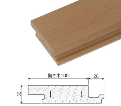 合成木材(デッキ規格):skg_d30_100_300