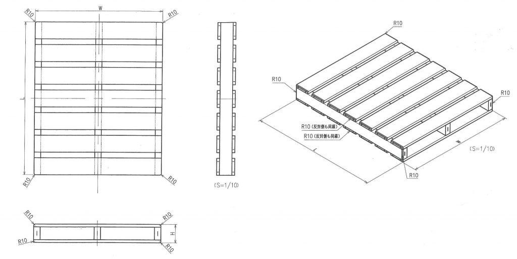 樹脂パレットの標準図