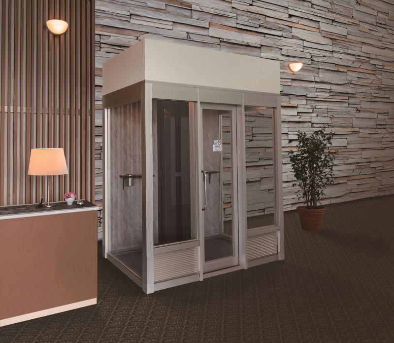 SMAAT分煙ブースのホテル・ロビーの設置イメージ