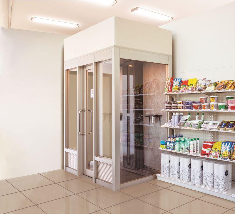 SMAAT分煙ブース コンビニ・ショップ・売店の設置イメージ